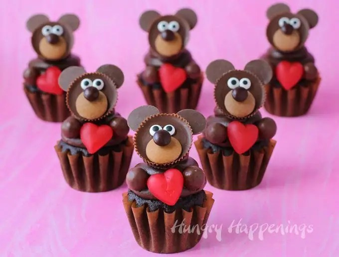 Chocolate Teddy Bear Cupcakes