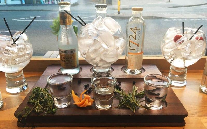 Whitmore & White gin tasting board