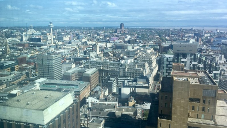 Liverpool City Centre birdseye view