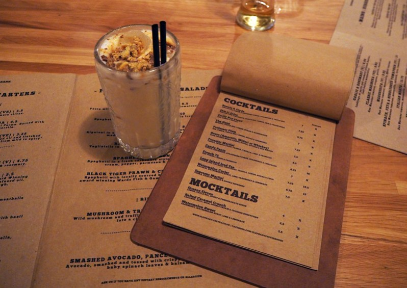 Salted caramel cocktail at Elephant Bank pizza