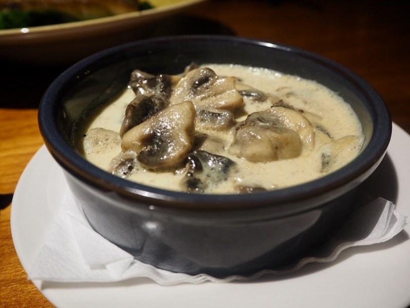 Alma de Cuba Liverpool main menu garlic mushrooms