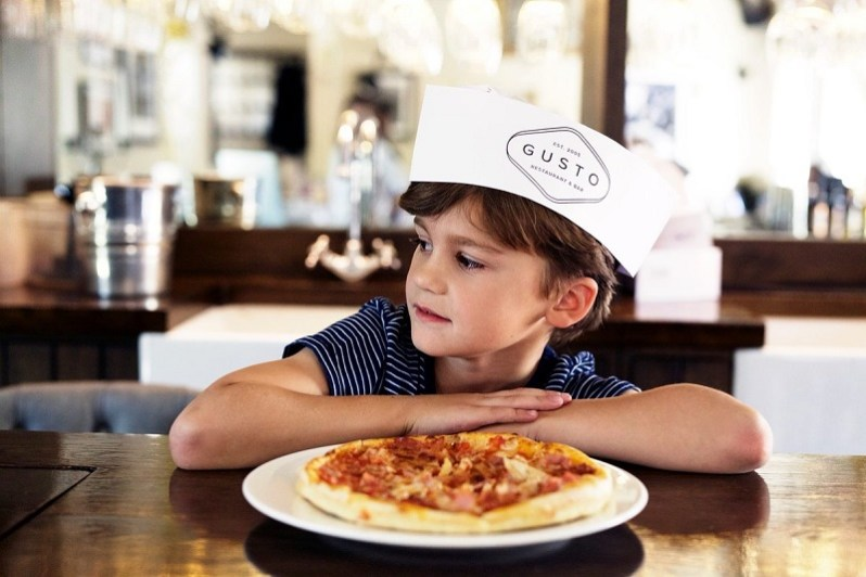 Gusto Make your own pizza kids menu