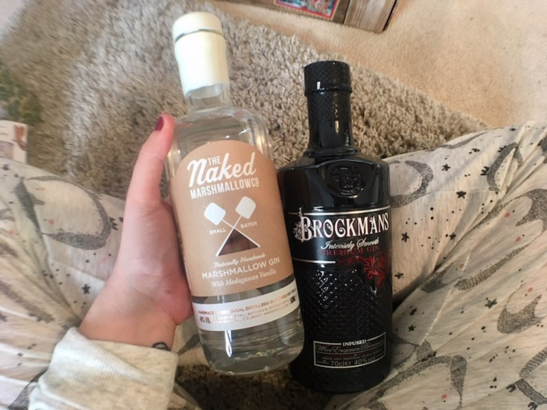 Marshmallow gin and Brockmans Gin