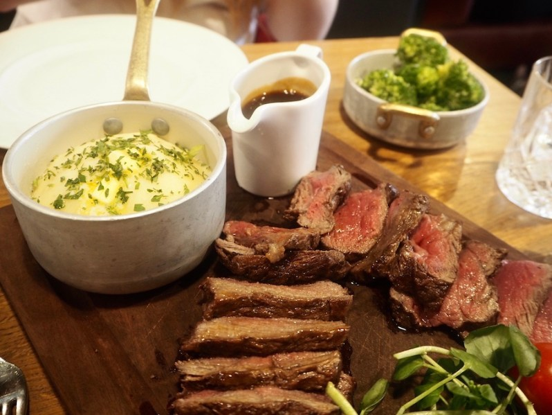 Chateaubriand steak at Grill on New York Street Manchester