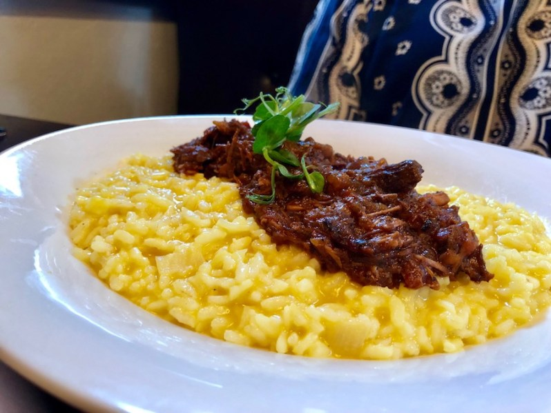 Saffron Risotto Gusto Italian restaurant summer food menu