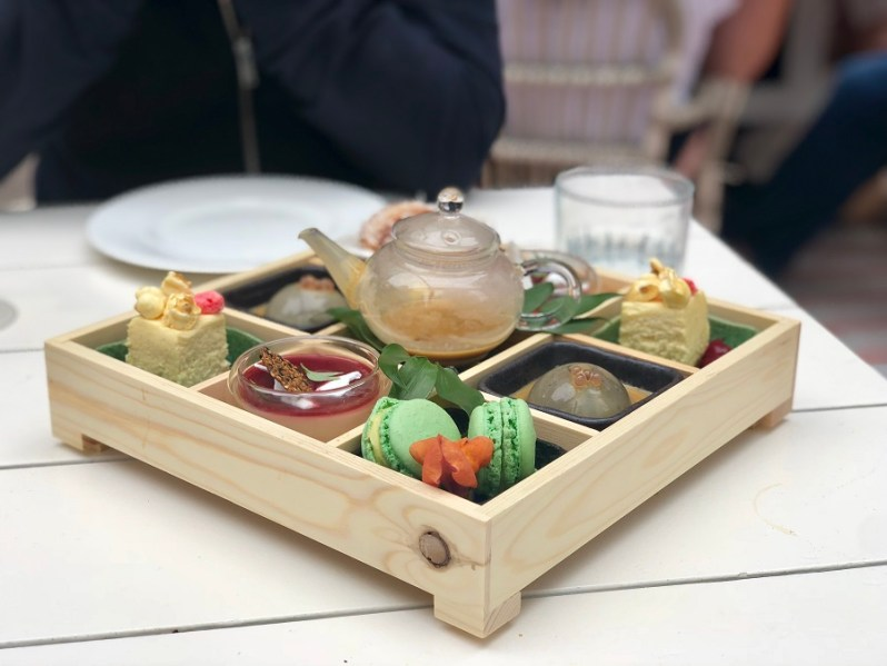 Sunset by Australasia Manchester afternoon tea dessert bento box