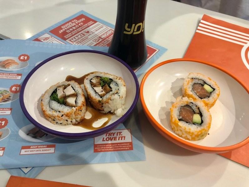 YO Sushi Cheshire Oaks menu