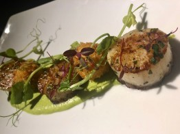 The Devon Doorway Heswall restaurant food menu scallops and lobster bonbons