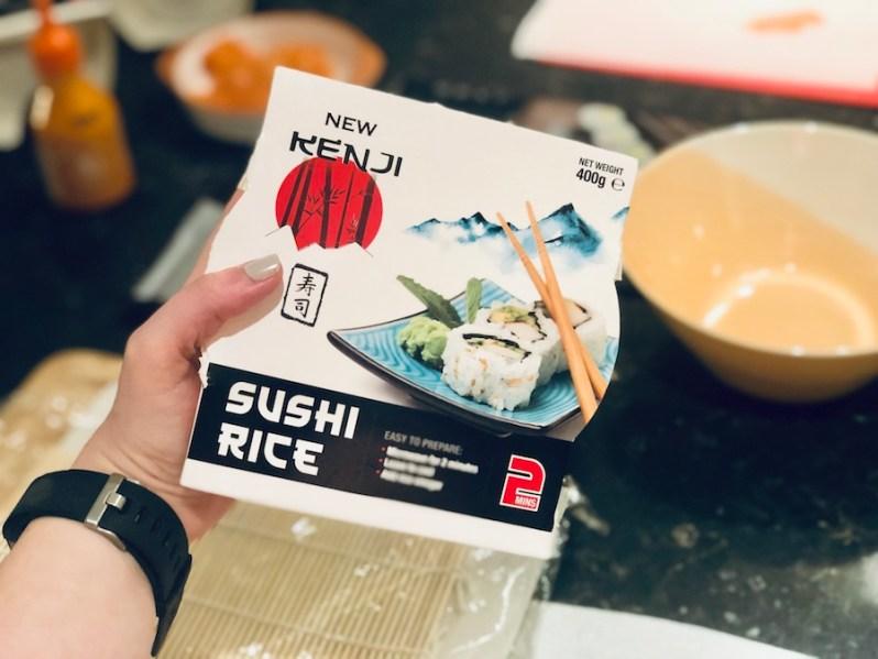 Microwave sushi rice