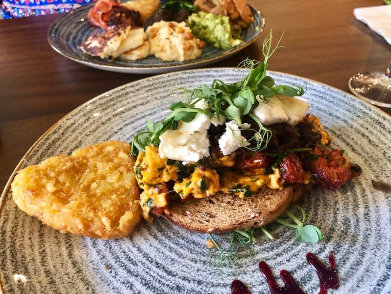Chorizo scrambled eggs from The Brunch Club Liverpool breakfast menu