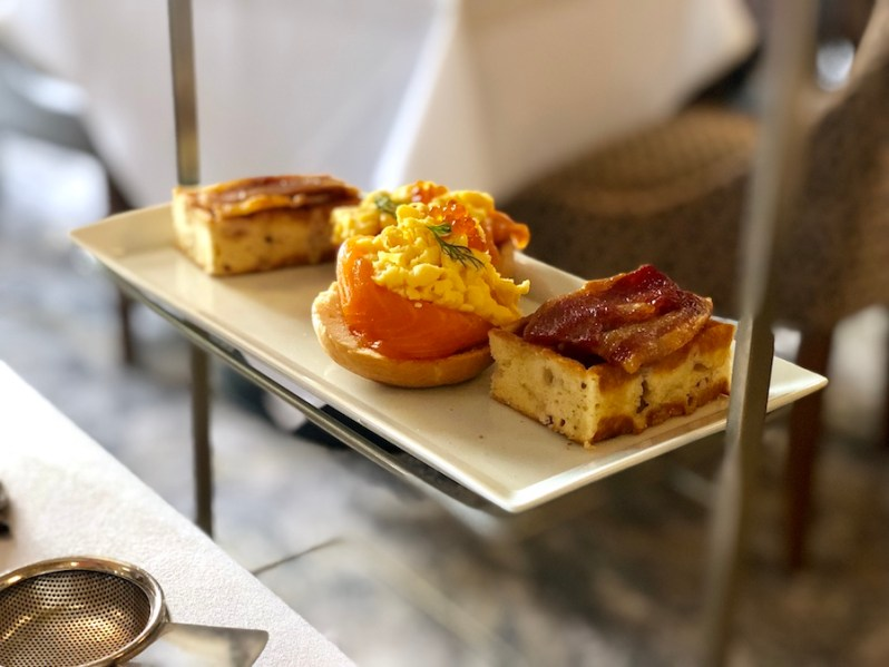 Afternoon tea style brunch menu at the Midland Hotel in Manchester city centre 2