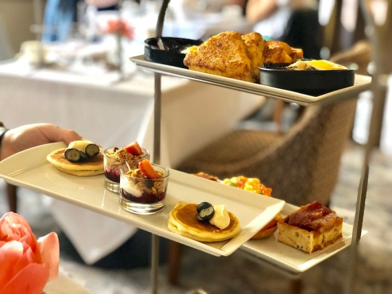 Afternoon tea style brunch menu at the Midland Hotel in Manchester city centre