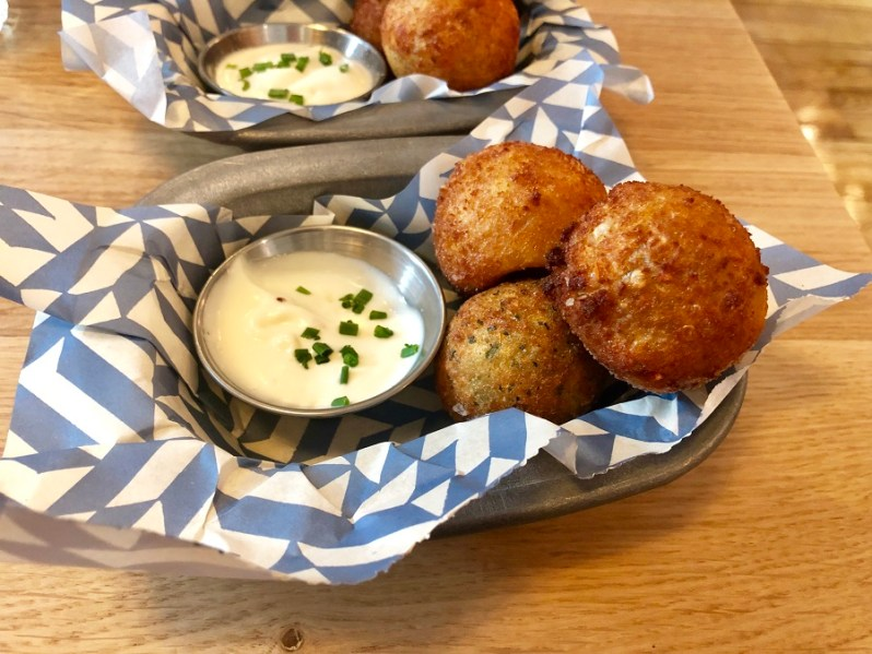 Croquettes off the food menu at Albert's Schenke Liverpool bar and restaurant