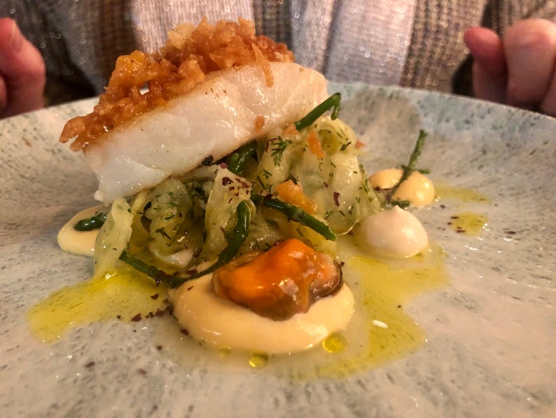 Cod off The Chippie food menu at the Six By Nico Liverpool restaurant