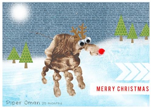 Hybrid Crafty Christmas Card Rudolph The Reindeer