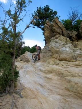 Tricky climb, fun ride down, Dakota Ridge