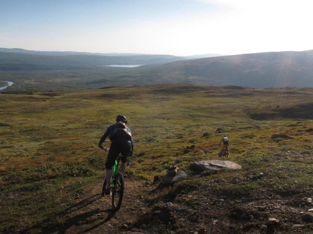 Jon and Martin heading down Dalåjve