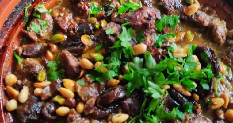 #HungryHighlander #Moroccan #Mediterranean #Lamb #Tagine Lamb Tagine with Dates, Almonds and Pistachios
