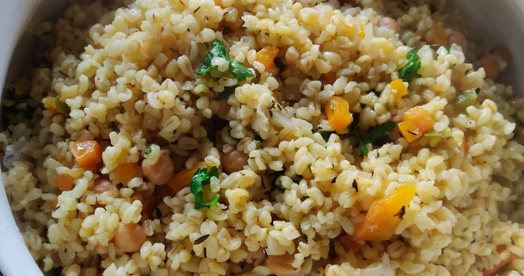 #HungryHighlander #Bulgur #Wheat #Chickpea #Pilaf Bulgur Wheat and Chickpea Pilaf