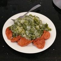 Dutch Kale Stamppot with Vegetarian Sausage