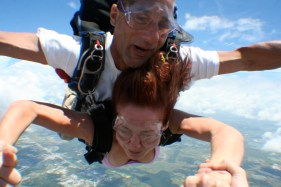 Jumping out of a perfectly good airplane.