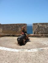 killing boredom at a fort in Puerto Rico.