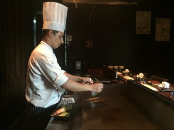 Yakitori: Chef in action