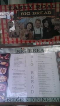 Big Bread menu out front
