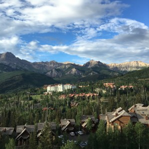 View from the Gondola - Telluride Yoga Festival