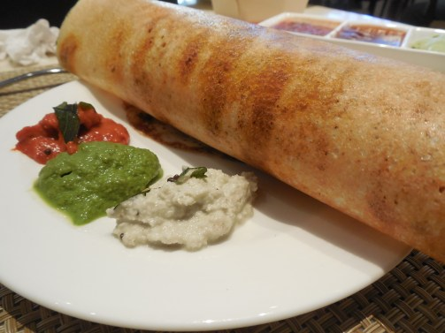 Dosa with chutneys