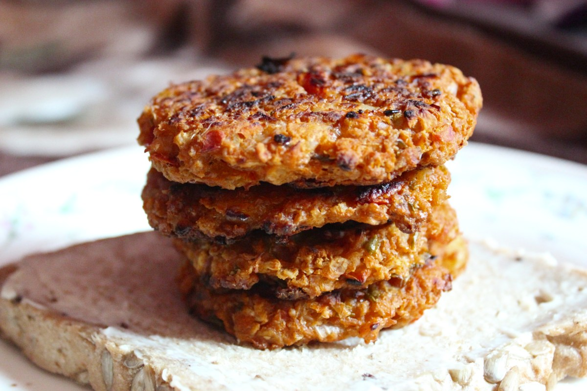 Homemade Burger Recipe: Baked Oat Burgers