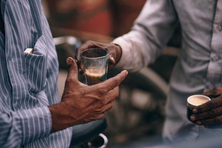 Roadside chai in Ahmedabad
