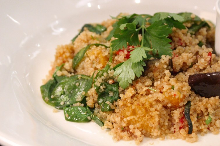 Warm Grilled Vegetable and Quinoa Salad