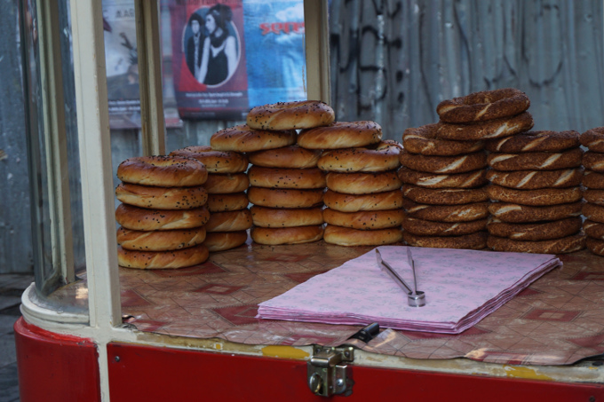 Simit from a street cart