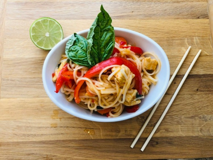 Sweet Chili Chicken and Noodle Stir-Fry