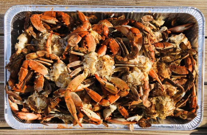 Cleaned and Steamed Blue Crabs