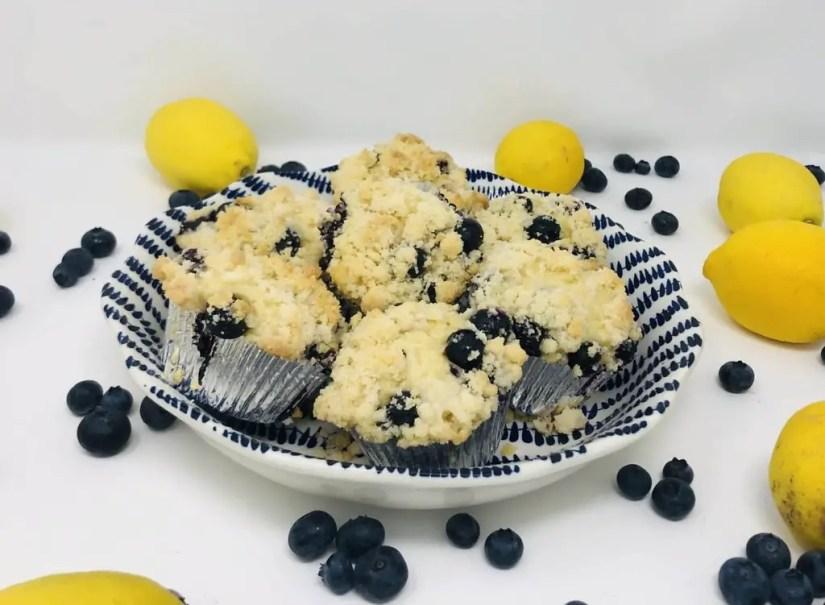 Blueberry Lemon Streusel Muffins