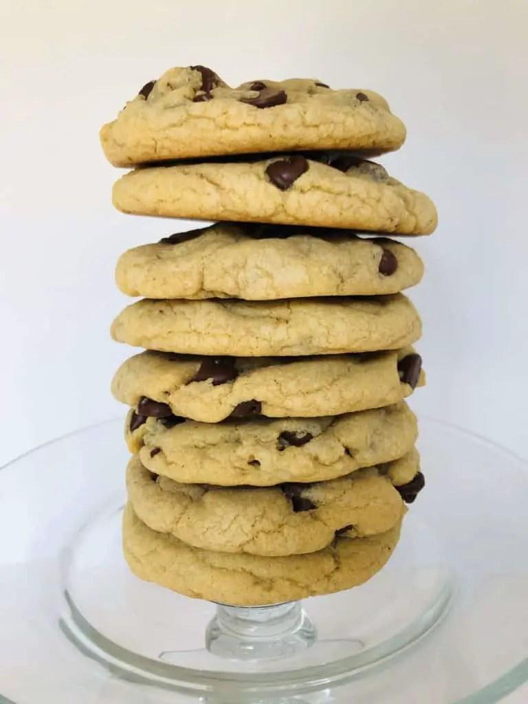 Chewy Jumbo Chocolate Chip Cookies