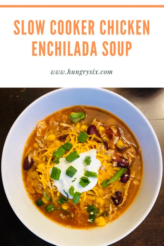 Slow Cooker Chicken Enchilada Soup Pin