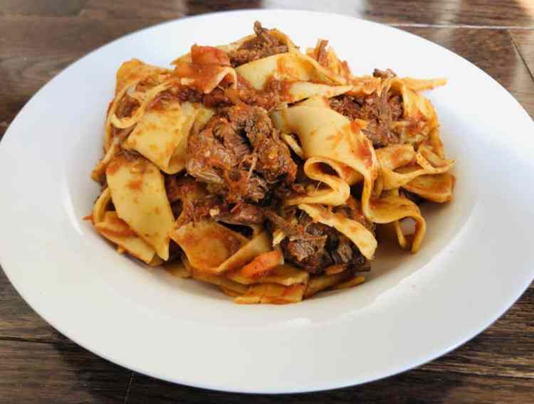 Instant Pot Beef Ragu with Pappardelle