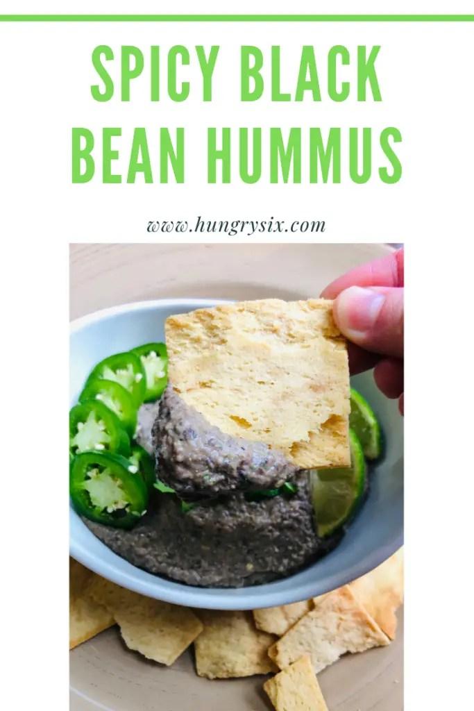 Spicy Black Bean Hummus Pin