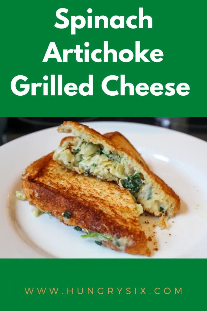 Spinach Artichoke Grilled Cheese Pin