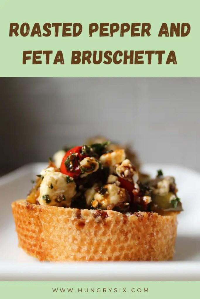 Roasted Pepper and Feta Bruschetta Pin