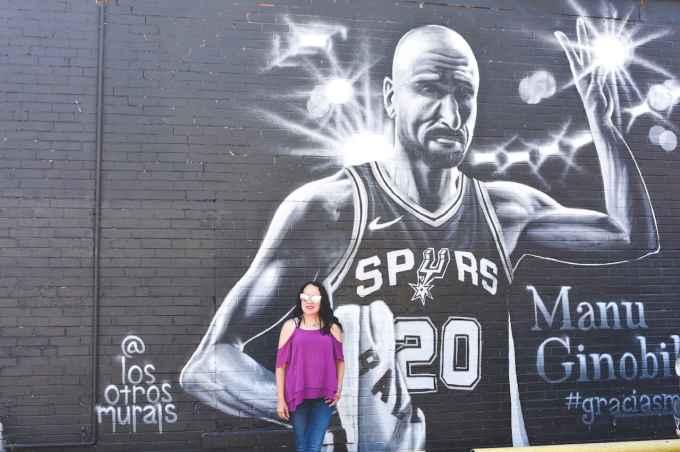 Manu GInobili Mural In San Antonio
