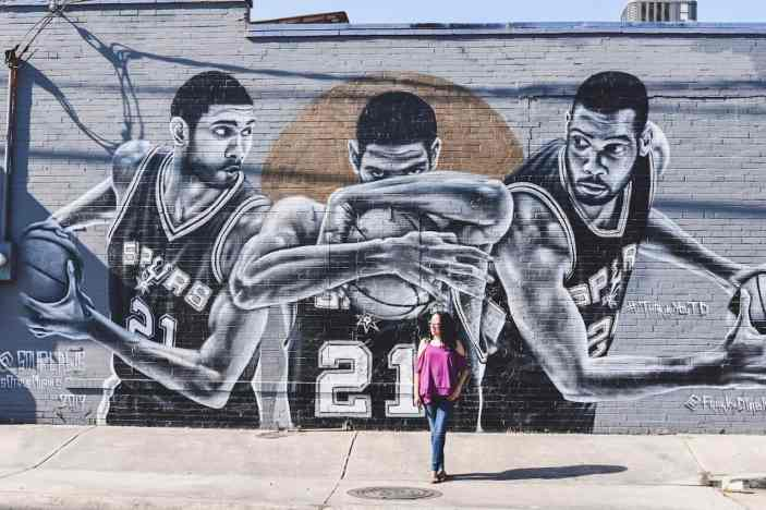 Tim Duncan Mural in San Antonio