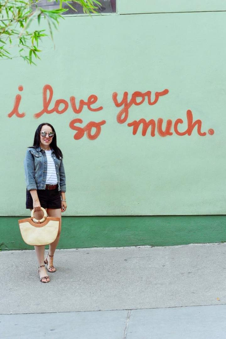 the most instgrammable murals in Austin I love you so much mural austin