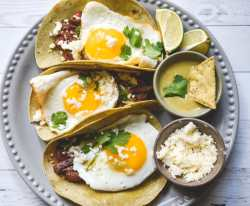 low carb keto steak eggs tacos breakfast brunch