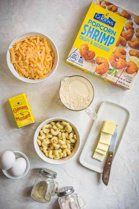 Easy Popcorn Shrimp with Creamy Mac and Cheese