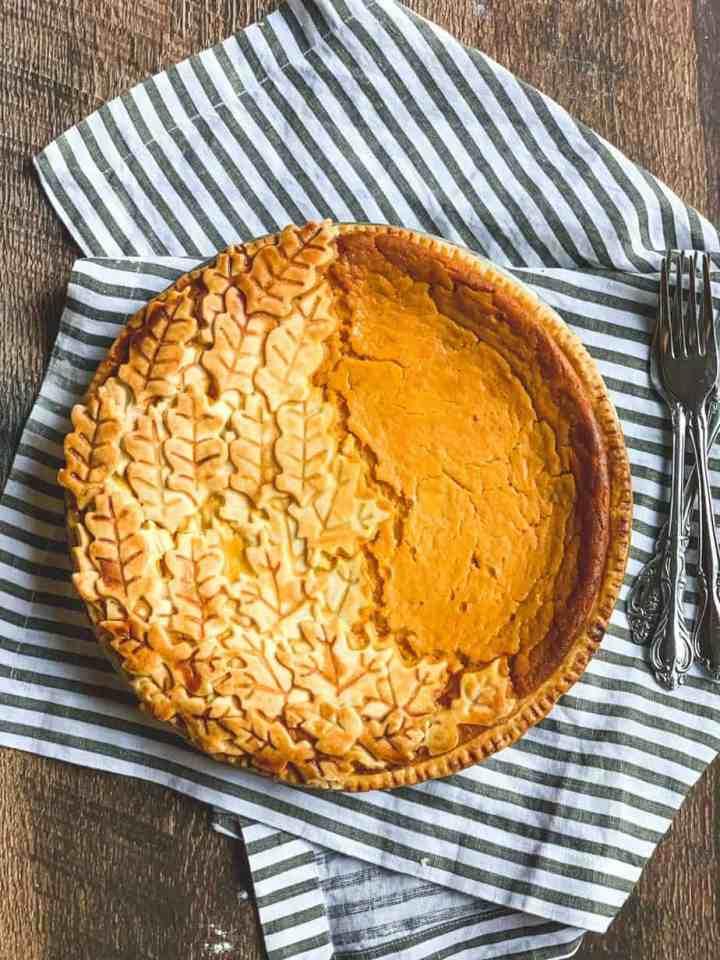How to make a Mascarpone Bourbon Roasted Sweet Potato Pie