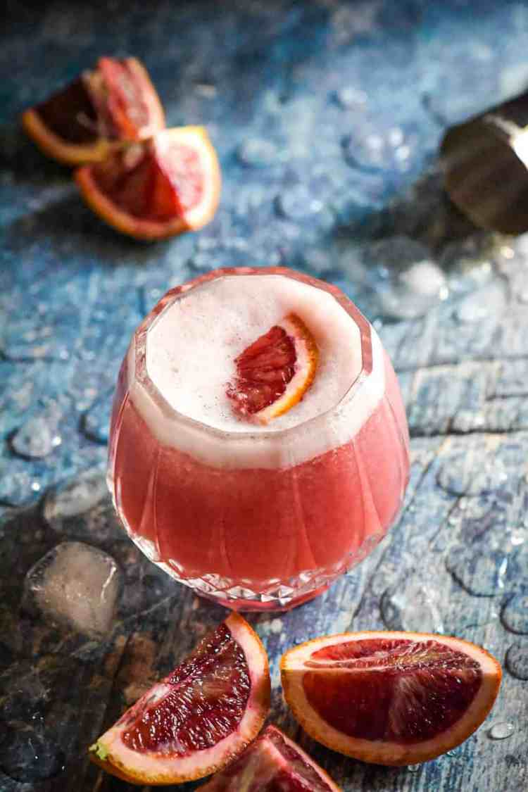 Easy Blood Orange Vodka Sour Cocktail